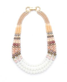 Nali Shop. Pink Stone Mult String Necklace