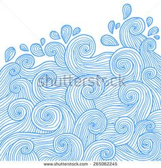 Abstract water wave background