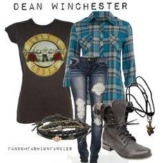 """Dean Winchester"" by chazza071 on Polyvore minus jeans I would so wear this"