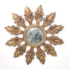 Flora Gold Leaf Starburst Mirror