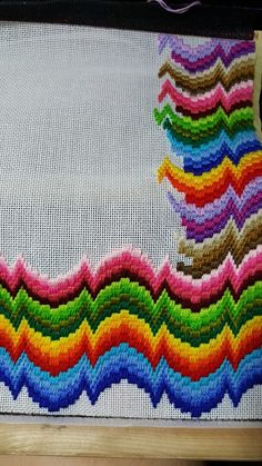 My sixth  Bargello!!!!❤