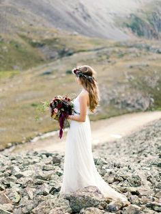 #Bride Photography: Brumley and Wells - brumleyandwells.com, Florals by http://www.durangoflorist.com  Read More: http://stylemepretty.com/2013/10/11/rugged-mountain-shoot-from-brumley-and-wells/