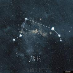 Impresión del arte de la constelación de por LowerWoodlandStudio