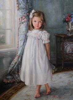 Beautiful, classic girl's portrait by a Portraits, Inc. artist