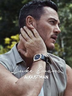Welsh actor Luke Evans covers the July 2015 issue of August Man Malaysia, posing for images by photographer Alan Clarke