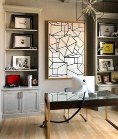 Custom geometric canvas by Kimberly Loveland