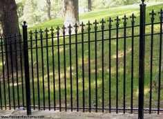 Wrought Iron Fence Styles | Wrought Iron Fencing Product Page - Fence Factory of Stamford, CT