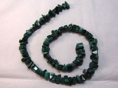 Malachite Chip Strand, natural gemstone, 16.25 inch strand, lot of 88, large…