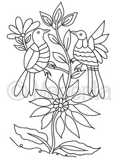 Diy Otomi Embroidery, Mexican Embroidery, Cross Stitch Embroidery, Folk Art Flowers, Flower Art, Machine Embroidery Patterns, Hand Embroidery Designs, 3d Quilling, Mexican Art