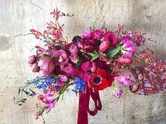 Armload of pretty for Cheri 💕 Dendrobium Orchids, Tulips, Wedding Flowers, Floral Design, Floral Wreath, Vibrant, Wreaths, Fine Art, Bouquets