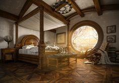 Hobbit House Interior, Hufflepuff Common Room, Fantasy House, Modern Exterior, The Hobbit, My Dream Home, House Plans, New Homes, House Design