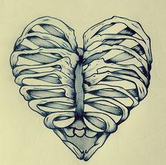 I want an anatomy tattoo to represent my passion for my job :) tattoos крут Anatomy Tattoo, Anatomy Art, Illustrations, Illustration Art, Heart Tatoo, Skull And Bones, Heart Art, Skull Art, Graphic