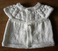 A very quick project - and -  No Sewing Up!     I have been knitting these cute little baby tops & thought you might like to make them too. ...