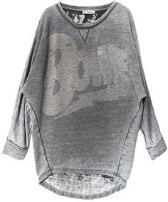 Liv Bergen Batwing Sweater Audrey BOWIE dark grey