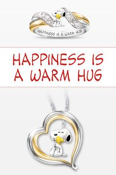 Happiness is a warm hug! Embrace your Snoopy and Woodstock devotion with our exclusive Peanuts jewelry.
