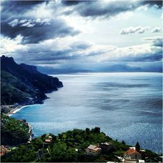 The view from #Ravello above the #Amalficoast