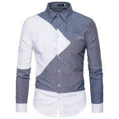 Men's casual long sleeve shirt