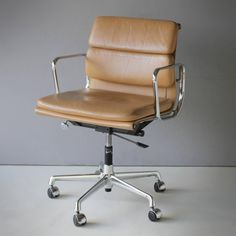 Eames EA 217 Soft Pad Chair | From a unique collection of antique and modern office chairs and desk chairs at https://www.1stdibs.com/furniture/seating/office-chairs-desk-chairs/