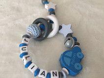 Greifling mit Namen Polizei Baby Geschenk