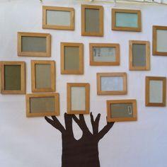New family tree classroom display art projects Ideas Family Tree Photo, Family Tree Art, Family Wall, Displaying Family Pictures, Display Family Photos, School Displays, Classroom Displays, Art Classroom, Vinyl Wall Stickers