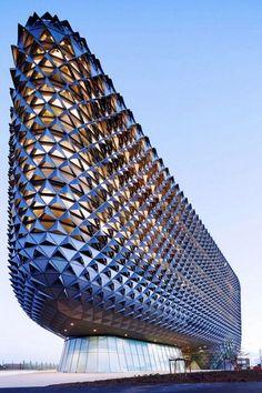 Amazing Huge Parametric Architecutre Design Ideas 2018 - Page 2 of 33 Architecture Paramétrique, Sustainable Architecture, Amazing Architecture, Unusual Buildings, Amazing Buildings, Architect Jobs, Future Buildings, Autocad, Monuments