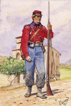 Garibaldini - I Mille -Brigata Eber, 1860