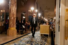 The brand showed its collection against the lavish backdrop of the grand Paris Ritz.