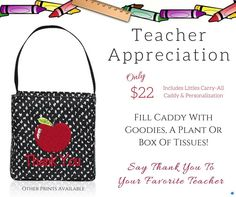 Teacher Appreciation Day is May 2! Don't miss out showing those that care so much for your child(ren) how much you appreciate them! www.AnchoredBagsBySarah.com