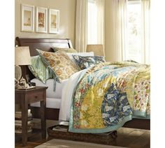 I want this quilt so, so, so badly. Scalloped Organic Patchwork Quilt & Sham | Pottery Barn