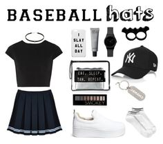 """""""Untitled #93"""" by ekanova17 on Polyvore featuring Windsor Smith, Alice + Olivia, Calvin Klein, Chanel, Forever 21, baseballcap and baseballhats"""