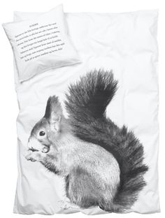 Kids Duvet Cover Squirrel - Click Image to Close Woodworking Projects Plans, Teds Woodworking, Cover Squirrel, Junior Bed, Best Duvet Covers, Scandinavian Interior Design, House Doctor, Red Accents, Linen Bedding