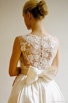 C'est si bon =bows - brides - gowns - lace - pretty white dress