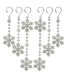 Holiday Cheer Ornament Dangle-Snowflake-6 Pack