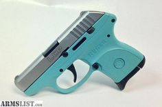For Sale:  For Sale: Tiffany Blue Ruger LCP .380 with Stainless Steel Slide