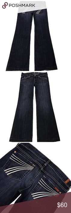 7 for all mankind Dojo flip flop denim 26 30 inseam Great condition 7 For All Mankind Jeans Flare & Wide Leg