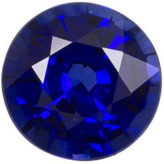 Genuine Blue Sapphire Loose Gemstone, Round Cut, 5.5 mm, 0.83 Carats at BitCoin Gems