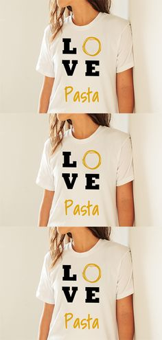 Stylisches T-Shirt, für alle die Pasta, Nudeln, Penne, Spaghetti, Bolognese, Carbonara and Gnocchi, Canneroni, al dente, Fusilli, Farfalle lieben. Hervorragend designed, und mit schöner Grafik bedruckt. Pasta, Penne, Spaghetti Bolognese, Fusilli, Gnocchi, Shirt Designs, Outfits, Tops, Fashion