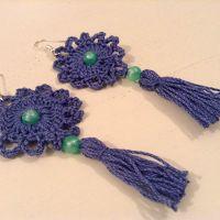 Tina's handicraft : Tassel Crochet Earrings