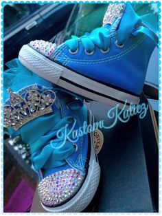 Frozen Birthday shoes , turquoise Swarovski Crystal Embellished Converse, queen Elsa birthday outfit on Etsy, $65.00