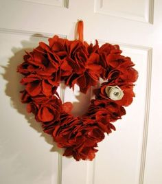 Unusually Yours - Red Valentine Wreath