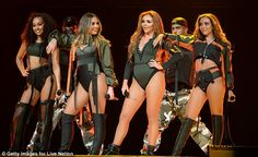 Smash hit: The four-piece looked sensational as they showcased their moves to a number of ...