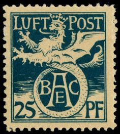 Old German States Bavaria Semi-official airmail stamp: 1912, Michel no. F I unused, clean trace or rest of a hinge, in perfect condition, expertized Pfenninger with Tiefstsignatur, Michel 200,- Euro Dealer Schwanke GmbH Auction Minimum Bid: 75.00 EUR
