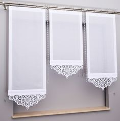Panel z ażurem Kitchen Window Curtains, Home Curtains, Curtains With Blinds, Valances, Window Screens, Window Coverings, Window Treatments, Pelmets, Shades Blinds