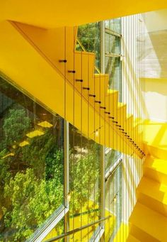 Beautiful yellow staircase