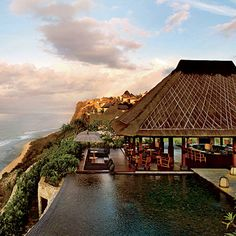 Bulgary Resort, Bali  The cliff-edge infinity pool at this luxury resort in southern Bali is situated 452 feet above the Indian Ocean.