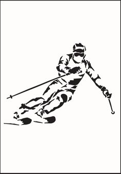 Paper cut Art Ski Picture Skier Skiing Sport Art by Nikelcards