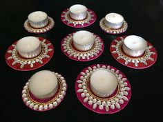 Tealight candle holder Diya Diwali Diya Indian by CozMHappy