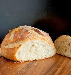 Crusty Rustic Bread {It's No Knead!} Recipe Crusty Rustic Bread {It's No Knead!} Recipe Try Crusty Rustic Bread {It's No Knead! You& just need 3 cups all-purpose flour, 1 tsp salt, tsp active dry yeast, 1 cups warm water (about. Bagels, Loaf Recipes, Cooking Recipes, Pan Focaccia, Dutch Oven Bread, Rustic Bread, No Knead Bread, No Yeast Bread, Artisan Bread
