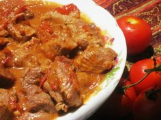Stewed Chicken - Trinidad Style from Food.com:   Delicious and very easy to make--a traditional recipe that will be cooked in every home.  Six large fresh tomatoes can also be used.