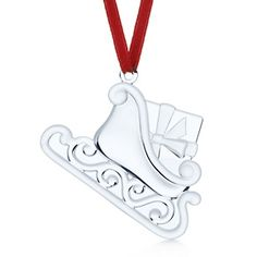 Sled Ornament in crystal.